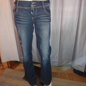 Rue 21 Premiere Jeans perm wrinkle flare bottom